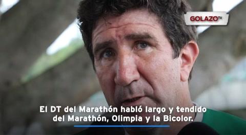 El DT del Marathón habló largo y tendido del Marathón, Olimpia y la Bicolor