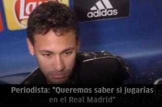 ¡Neymar explota cuando le preguntan sobre su fichaje con el Real Madrid!