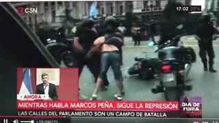Violenta protesta en Argentina por reformas del gobierno