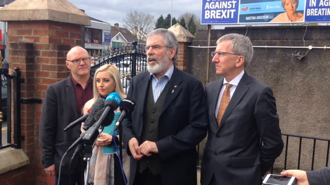 Video: Gerry Adams says Brexit negotiation guidelines 'fall short'