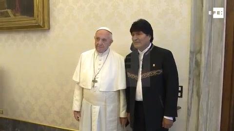 El papa y Evo Morales se reúnen sin referencias a la demanda marítima