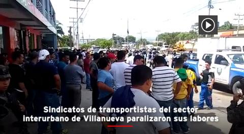 Transportistas paralizan labores en la zona norte de Honduras