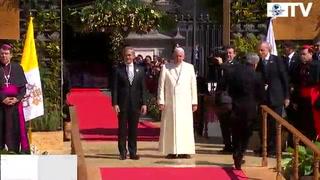El Papa Francisco recibe las Llaves de la Ciudad de México