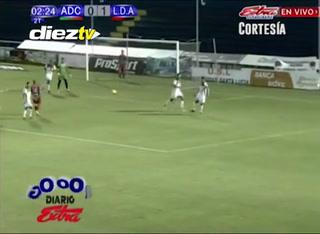El segundo doblete de Roger Rojas en el Carmelita vs Alajuelense