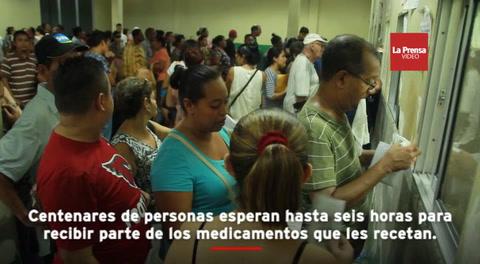 El área destinada a la farmacia del Instituto Hondureño de Seguridad Social (IHSS) parece un horno