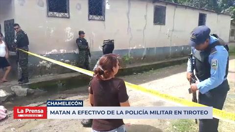 Matan a efectivo de la Policía Militar en tiroteo