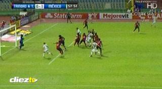 Diego Reyes tiene ganando 1-0 a México frente a Trinidad y Tobago