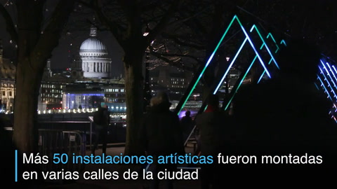 Londres brilla con festival de las luces