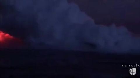 Momentos de terror cuando lava cae en un bote turístico