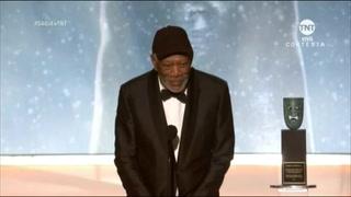 Morgan Freeman recibió el Premio SAG 2018 a la trayectoria