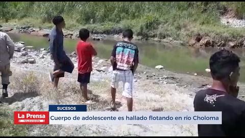 Cuerpo de adolescente es hallado flotando en río Choloma