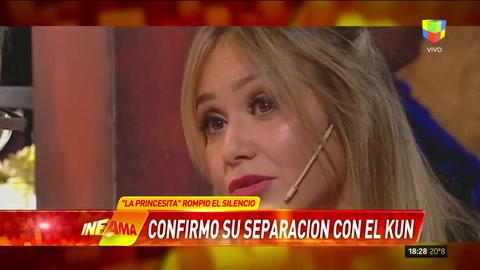 La Princesita Karina confirmó su separación con Agüero