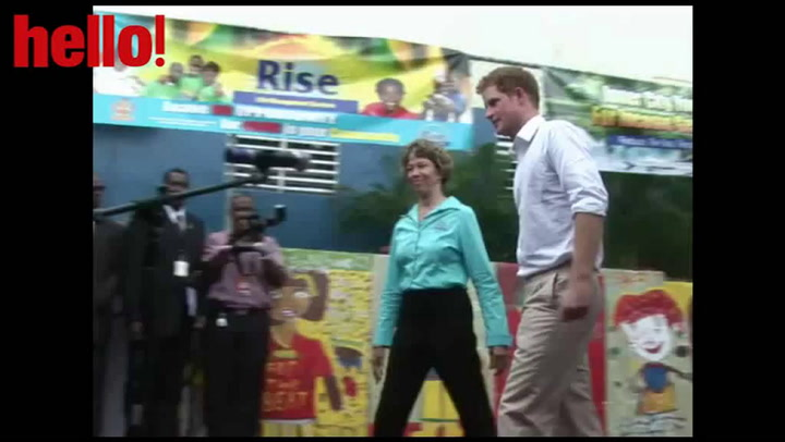 Prince Harry gets into the groove in Kingston
