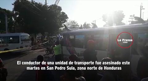 Matan a tiros al conductor de un bus Impala en San Pedro Sula
