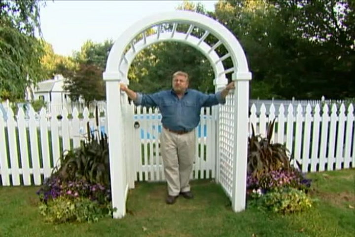 How to Put up an Arched Garden Arbor DIY Projects Videos