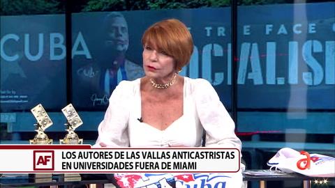 Conversamos con la autora de las vallas Anticastristas en Universidades fuera de Miami