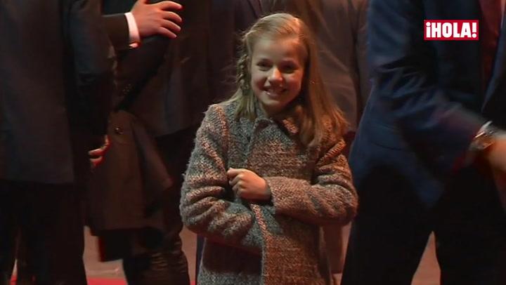 La princesa Leonor asegura que el partido le ha gustado \'mucho\'