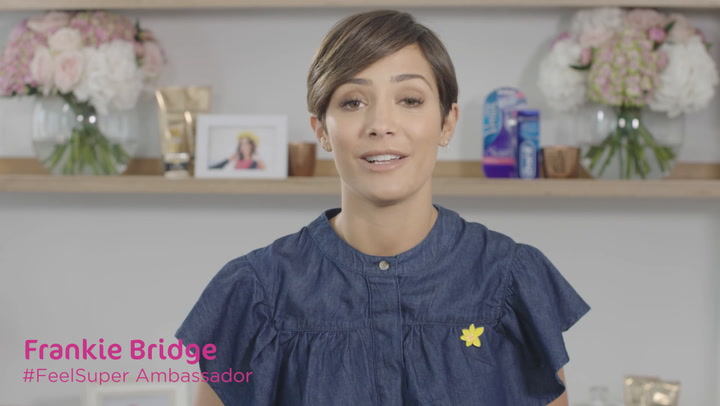 Frankie Bridge supports Marie Curie\'s Feel Super campaign