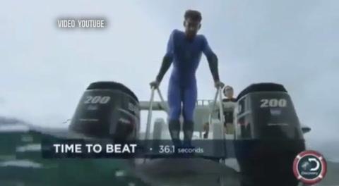 Michael Phelps pierde la carrera contra un tiburón blanco