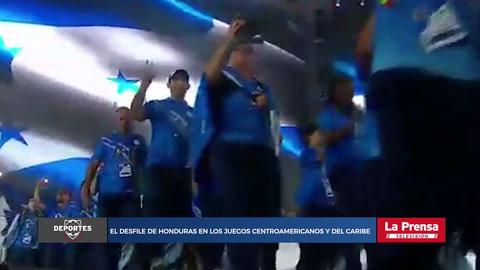 El desfile de Honduras en los Juegos Centroamericanos y del Caribe