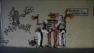 El grafitero Banksy reaparece con dos murales