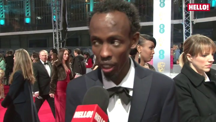 BAFTA Film Awards: Best Supporting Actor Barkhad Abdi speaks to HELLO! on the red carpet about his film, Captain Phillips