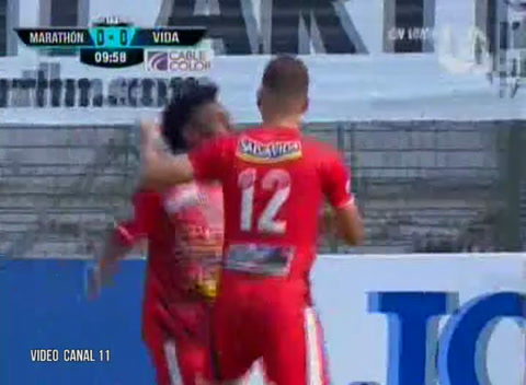 Marathón 0 - 1 Vida (Liga Nacional de Honduras)