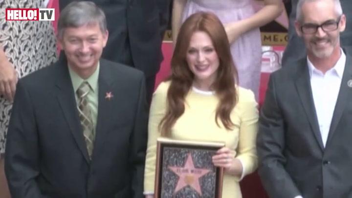 Julianne Moore receives Hollywood star
