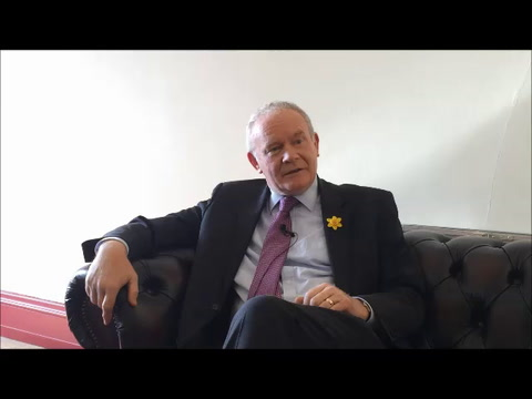 Video: Martin McGuinness talks about the peace process and meeting Queen Elizabeth