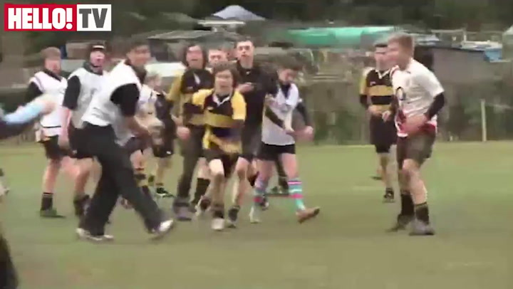 Ben Youngs and Chris Ashton inspire Oadby Wyggestonian Youngsters