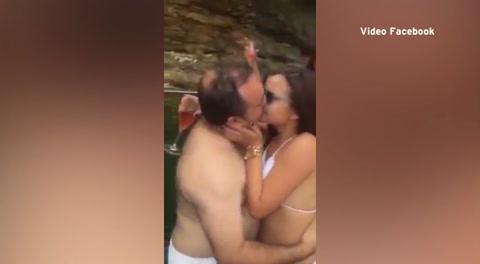 El apasionado beso de una pareja causa furor en redes