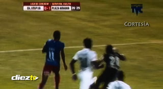 ¡GOOOL! José Murrillo marca el 1-0 ante Olimpia en el estadio Olímpico