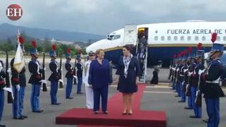 Llega a Honduras la presidenta de Chile Michelle Bachelet