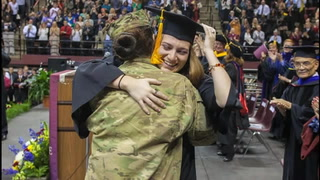 Navy officer surprises sister at graduation