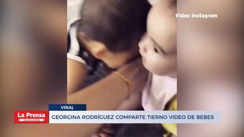 Georgina Rodríguez comparte tierno video de uno de los mellizos jugando con Alana