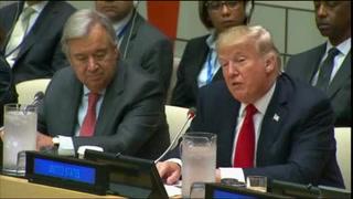 Trump pide reformas en su primer discurso en la ONU