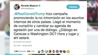 Maduro pide a Trump una reunión y spot causa enojo y risas