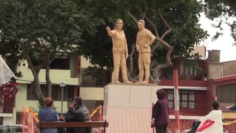 Dedican en Perú estatuas a Guerrero y Gareca, criticadas por su coste y aspecto
