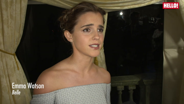 Emma Watson and Emma Thompson at Kensington Palace for Beauty and the Beast Premiere.mp4