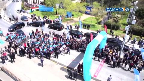 Erdoğan bisiklet sürdü, korumalar yakalamaya çalıştı