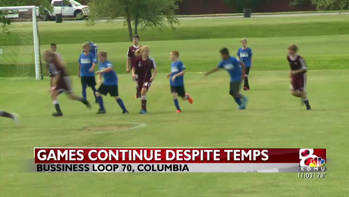 High temperatures cause Show-Me State Games to take precautions