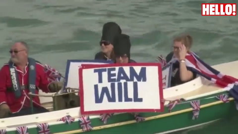 Prince William and Kate take to the New Zealand waters to sail around Auckland