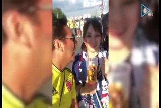 Vídeo ofensivo de colombiano con hincha japonesa en Rusia