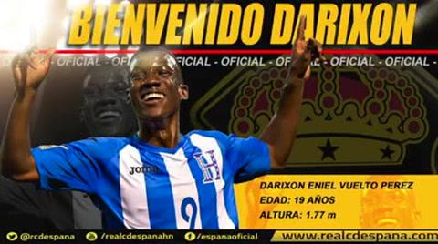 Real España oficializa la llegada de Darixon Vuelto en sus filas
