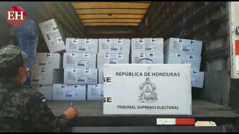 Llega material electoral al departamento de el Paraíso