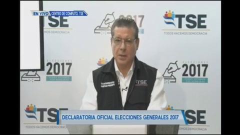 TSE declara presidente electo a Juan Orlando Hernández