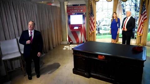 Figura de cera de Melania presentada por exvocero de Casa Blanca