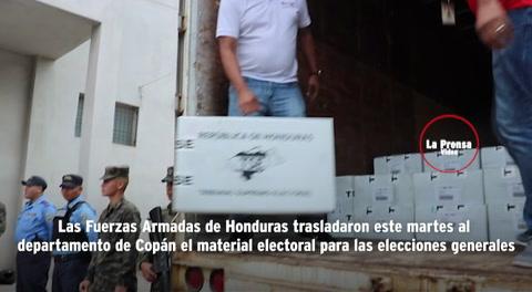 Elecciones en Honduras: Llegan a Copán 835 maletas electorales