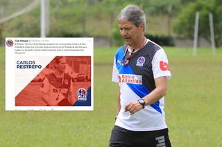 CONFIRMADO: Olimpia hace oficial la salida del técnico Carlos Restrepo
