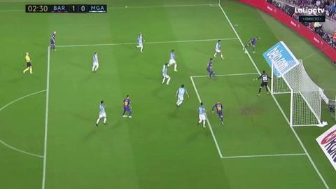 Deulofeu abre el marcador para el Barcelona sobre el Málaga